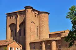 The Berbie palace in Albi. This fortress is a former episcopal Palace Royalty Free Stock Images