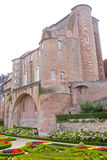 Berbie's palace with its garden full of flowers in Albi. France Stock Photo