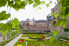 Berbie's palace surrounded of ivy in Albi. France Stock Photography