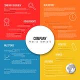 Überblick-Designschablone Vector Company infographic Lizenzfreie Stockfotos