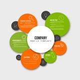 Überblick-Designschablone Vector Company infographic Stockbild