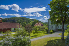 Berby Manor house, farmyard Royalty Free Stock Photo