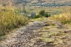 Berca Buzau, gyttjavolcanoes Royaltyfria Bilder