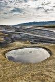 Berca Buzau, Moddervulkanen Stock Afbeeldingen