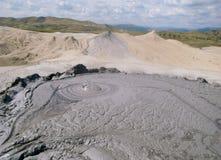 The Berca Mud Volcano in Buzau, Romania Stock Image
