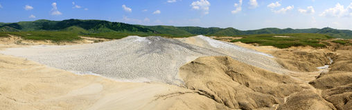 Romania - Mud volcano panorama Royalty Free Stock Photos