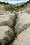 Berca, Romania - October 20, Mud vulcanoes on 20 October, 2016 i Royalty Free Stock Images