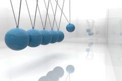 Berceau bleu de newton Photos libres de droits