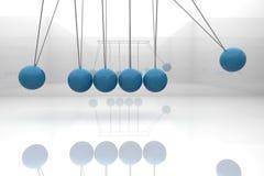 Berceau bleu de newton Images libres de droits