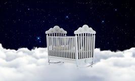 Berceau sur les nuages Photographie stock libre de droits