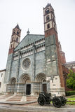 Bercelli, iglesia de Sant'Andrea Foto de archivo