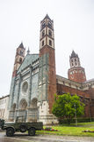 Bercelli, iglesia de Sant'Andrea Imágenes de archivo libres de regalías