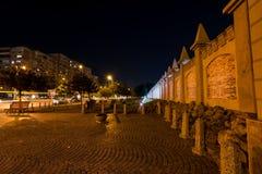 Berceni-Nachbarschaft bis zum Nacht, Bukarest stockfotografie