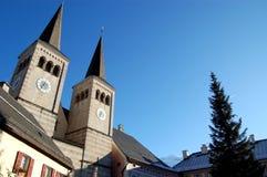 berchtesgaden教会外部 免版税库存图片