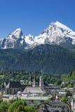 Berchtesgaden in Beieren, Duitsland Stock Foto's