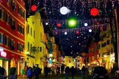 Kitzbühel in December, night scene Stock Images