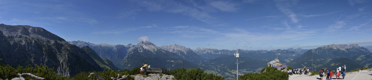 Berchtesgaden and Konigsee panorama view from Kehlsteinhaus top Stock Images