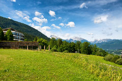 Berchtesgaden Luxury Hotel in Bavarian Alps royalty free stock photography