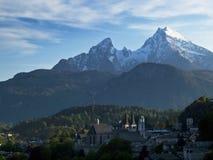 Berchtesgaden met Watzmann Royalty-vrije Stock Foto