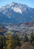 Berchtesgaden with mountain in the background Stock Images