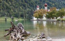 Berchtesgaden sjö Konigssee Royaltyfria Foton