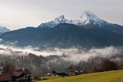 Berchtesgaden - View of the Mountain Peaks Stock Photography