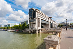 Bercy ministry of finance in Paris on a sunny day. France Royalty Free Stock Photo