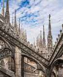 Überdachen Sie Terrassen von Milan Cathedral, Lombardia, Italien Lizenzfreie Stockfotos