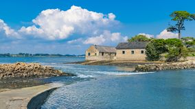 Berder island, in Brittany stock photos