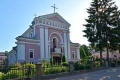 Berdichev, Ukraine L'église de Varvara sacré, endroit du mariage de l'auteur français Honoré de Balzac (1850) Image stock