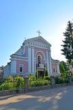 Berdichev, Ukraine L'église de Varvara sacré, endroit du mariage de l'auteur français Honoré de Balzac Images libres de droits