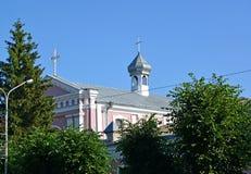Berdichev, Ukraine L'église de Varvara sacré, endroit du mariage de l'auteur français Honoré de Balzac (1850) Photographie stock libre de droits