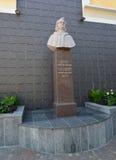 Berdichev, Ukraine. Monument to the French writer Honoré de Balzac Stock Photography