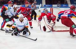 Berdnikov Vadim (8) fall down Stock Image