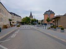 Berdorf bymitt, Luxembourg, Europa Arkivbilder