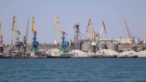 Berdyansk του θαλάσσιου λιμένα απόθεμα βίντεο
