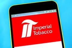 Berdyansk, Ukraine - 10 mai 2019 : ?ditorial illustratif de page d'accueil de site Web de groupe d'Imperial Tobacco Imperial Toba photos libres de droits