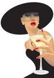 Bere della donna Immagini Stock Libere da Diritti