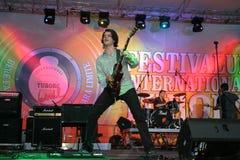Bere Gratis. The guitar singer of the famous romanian rock bands stock photos