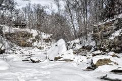 Berea Falls In Winter Royalty Free Stock Images