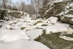 Berea Falls In Winter Stock Photos