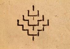 Bereber art symbols, Kasbah, Morocco Royalty Free Stock Images