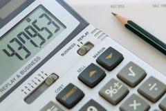 Berechnen Sie die Rechnung Stockbild