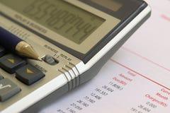 Berechnen Sie die Rechnung Lizenzfreie Stockbilder