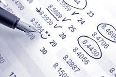 Berechnen Sie Einkommen lizenzfreies stockfoto