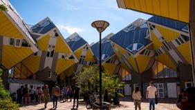Berechnen Sie Häuser, die in Rotterdam, die Niederlande gebaut werden Lizenzfreies Stockbild