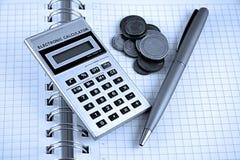Berechnen und Finanzierung Lizenzfreie Stockbilder