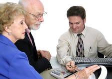 Berechnende Serie - Älter-Finanzen Stockfotos