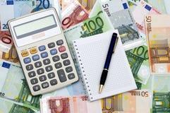 Berechnung der Finanzierung Stockfotografie