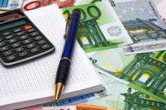 Berechnung der Finanzierung Stockfotos